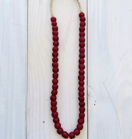 "Ghana Recycled Glass 13mm Ruby 24"" Necklace"