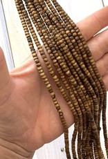 4mm Round Ox Bone Coffee Strands