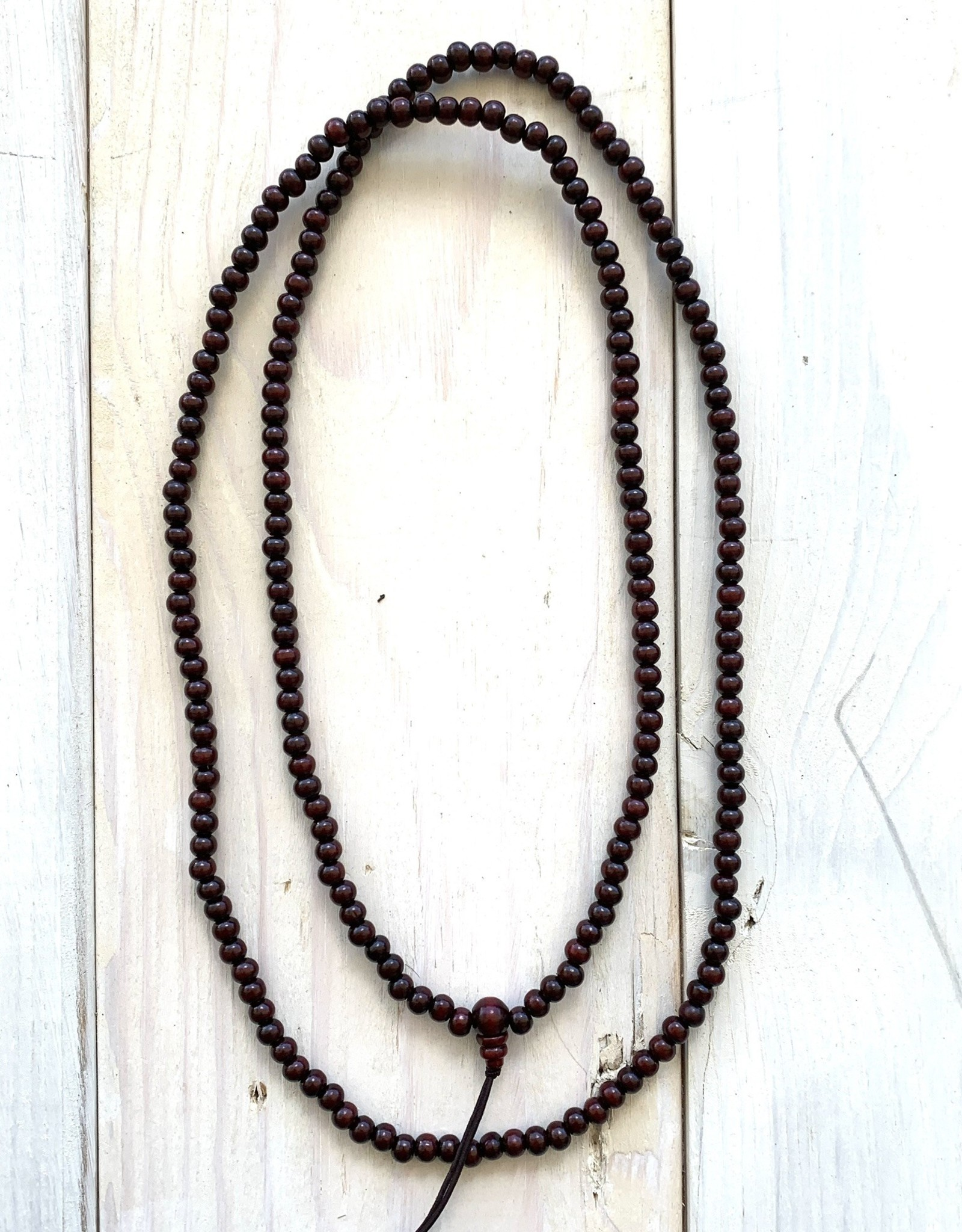 "6mm Wooden Mala 40"" Necklace"