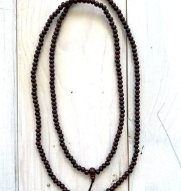 """6mm Wooden Mala 40"""" Necklace"""