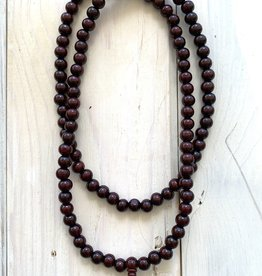 """8mm Wooden Mala 40"""" Necklace"""