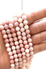 8mm Round Pink Opal Strand