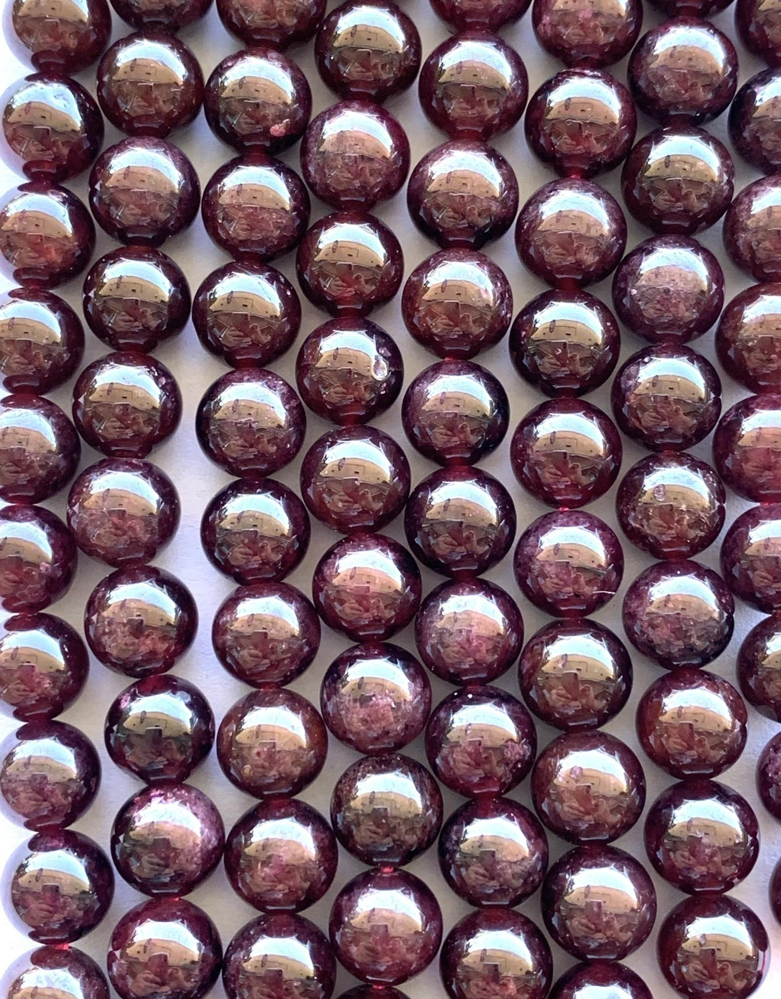 6mm Garnet Rounds Strand