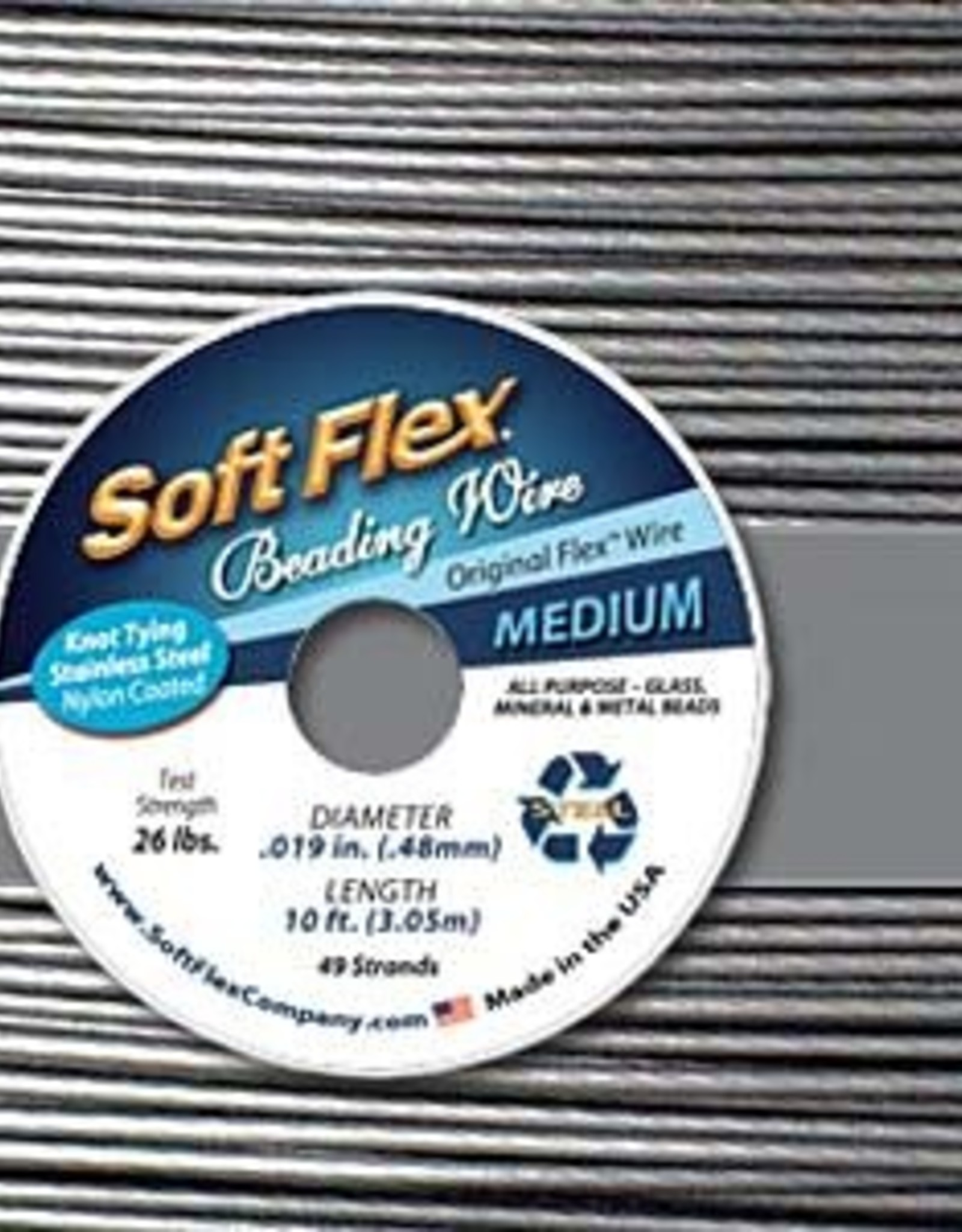 .019 Soft Flex Beading Wire  Satin Medium 10ft