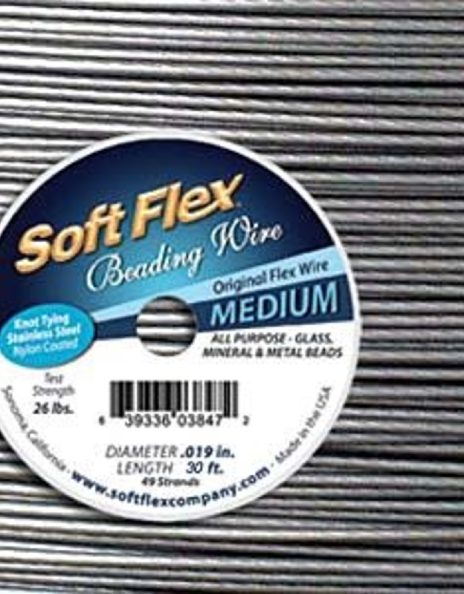 .019 Soft Flex Medium Beading Wire 30ft