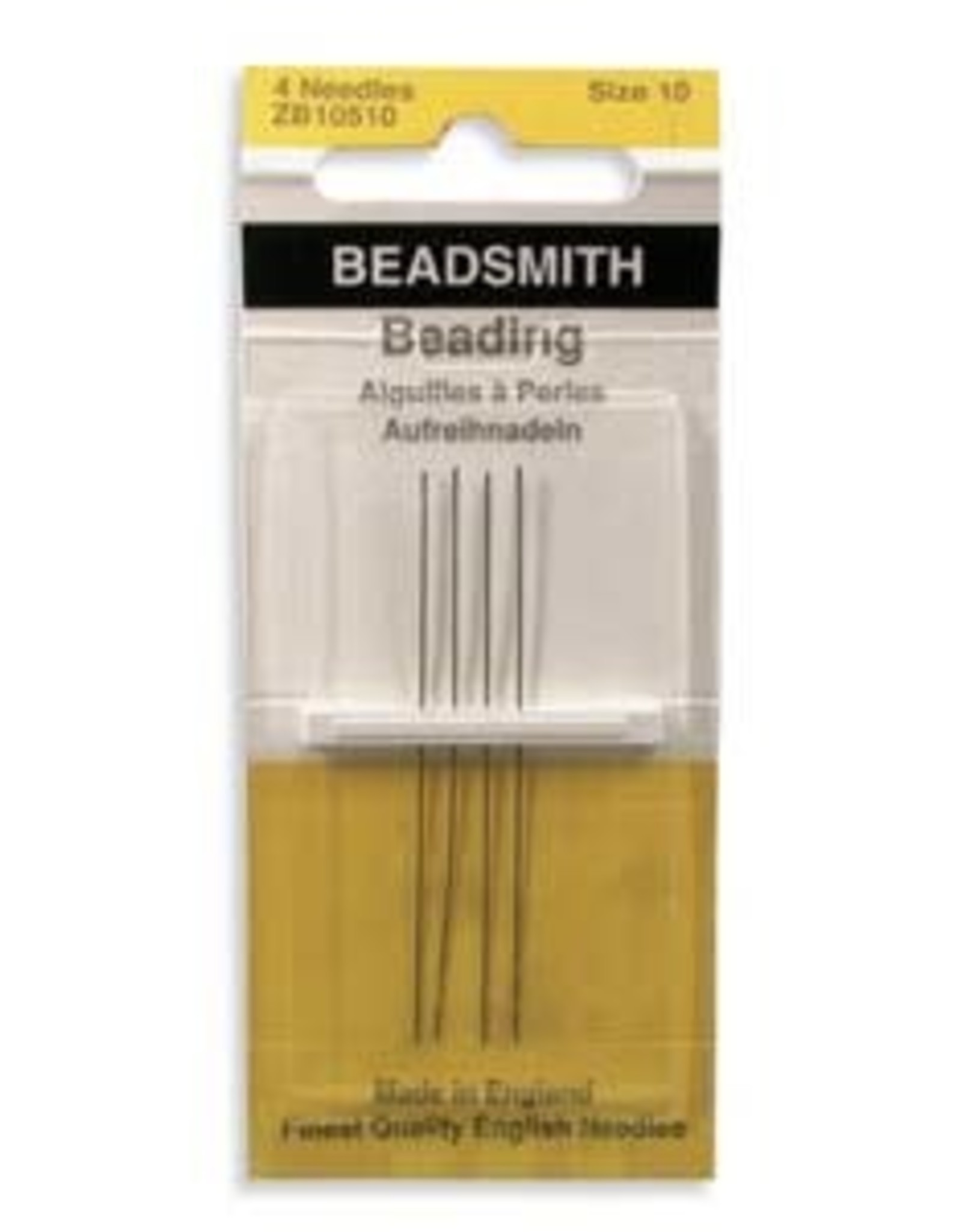 Beading Needles, size 10,  4-pk