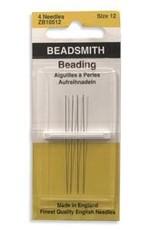 Beading Needles, size 12, 4-pk