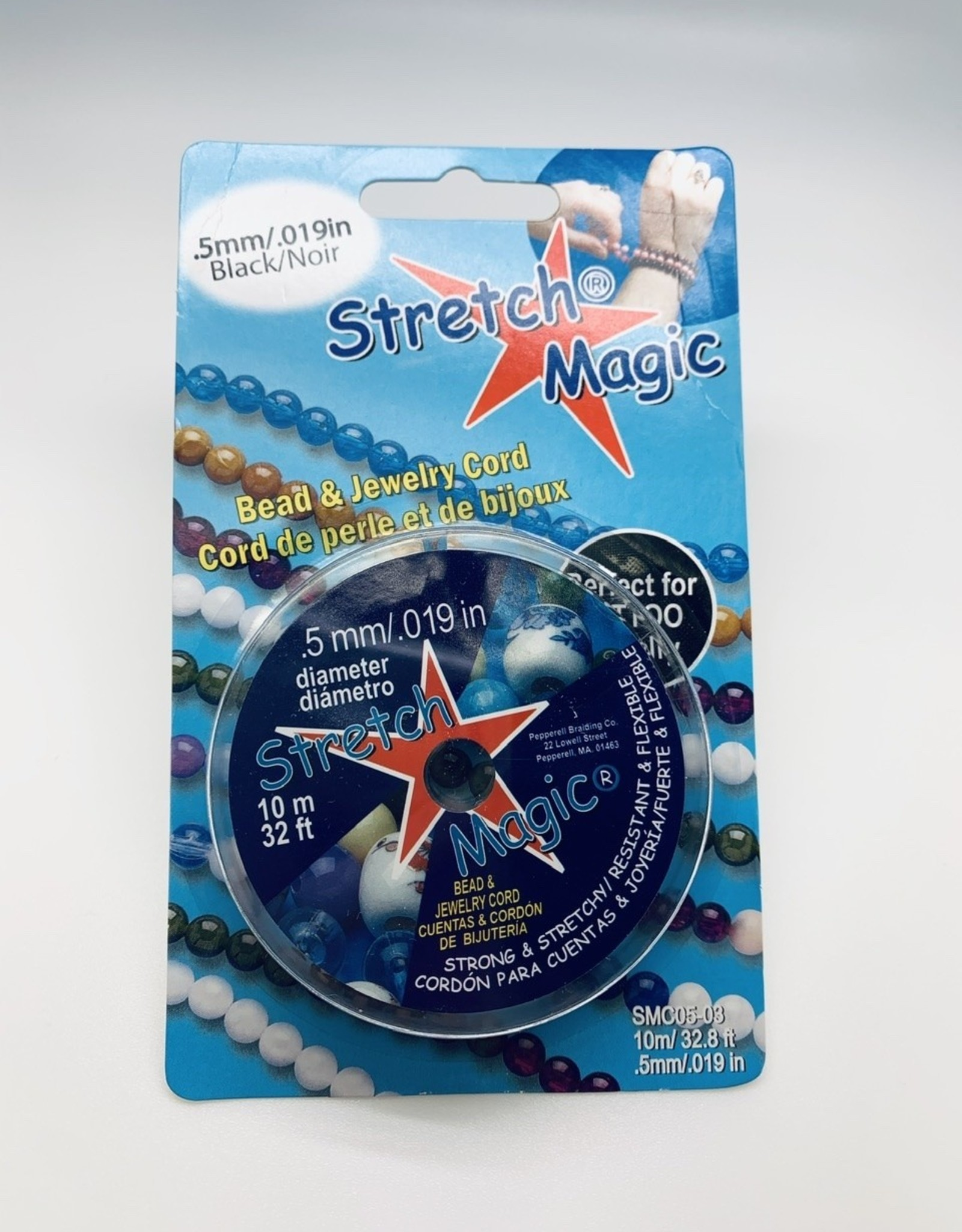 .5mm Stretch Magic .Black 10 meter pkg