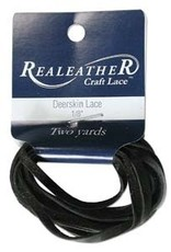 "3/16"" Deerskin Lace Black 2 yds"