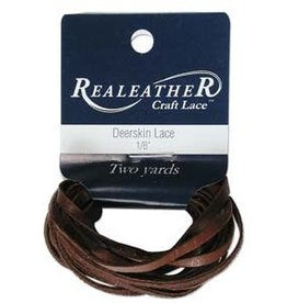 "3/16"" Deerskin Lace Chocolate 2 yds"