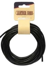 3mm Leather Cord Black 5 yrd pkg