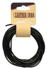 2mm Leather Black 5 yd