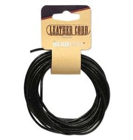 2mm Leather Black 5 yd