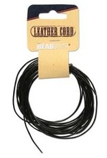 1mm Leather Black 5 yd