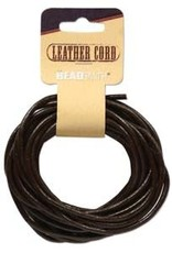 3mm Leather Cord Brown 5 yd pkg