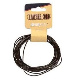 1mm Leather Brown 5 yd