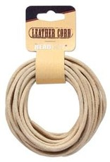 3mm Leather Cord Natural 5 yrd