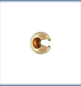 4mm Crimp Covers, 14k Gold Filled Qty 10