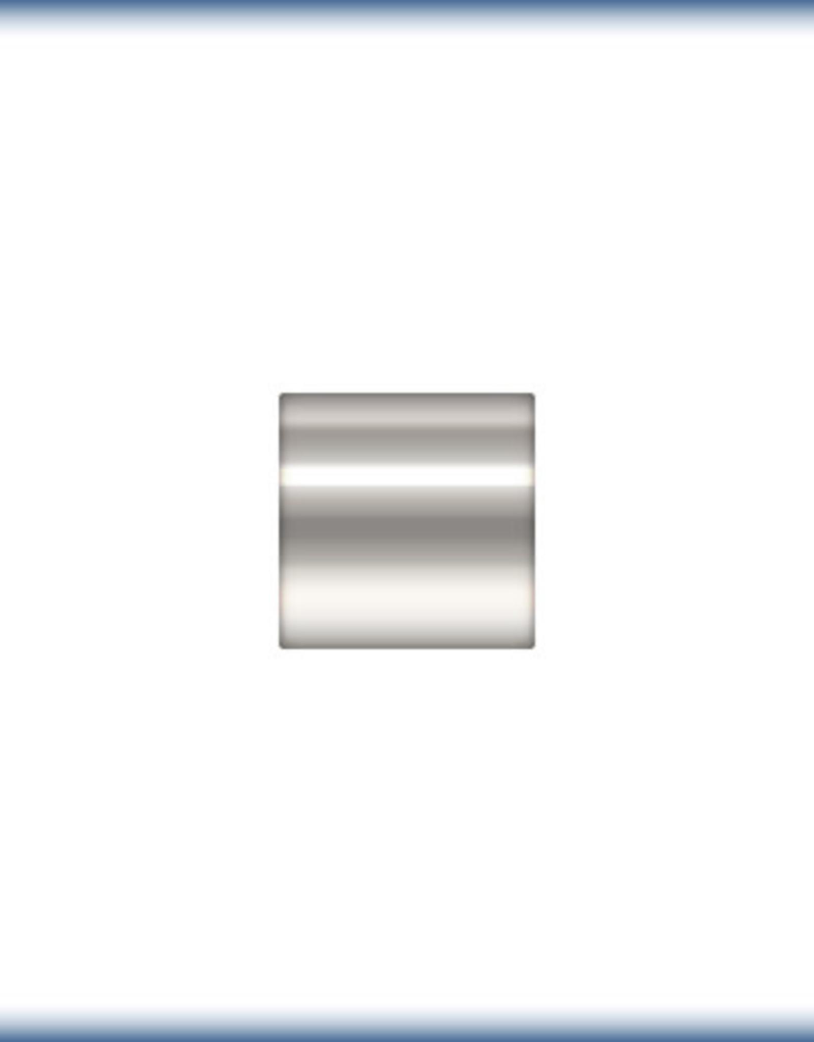2x2 Crimp Tubes Sterling Silver Qty 25