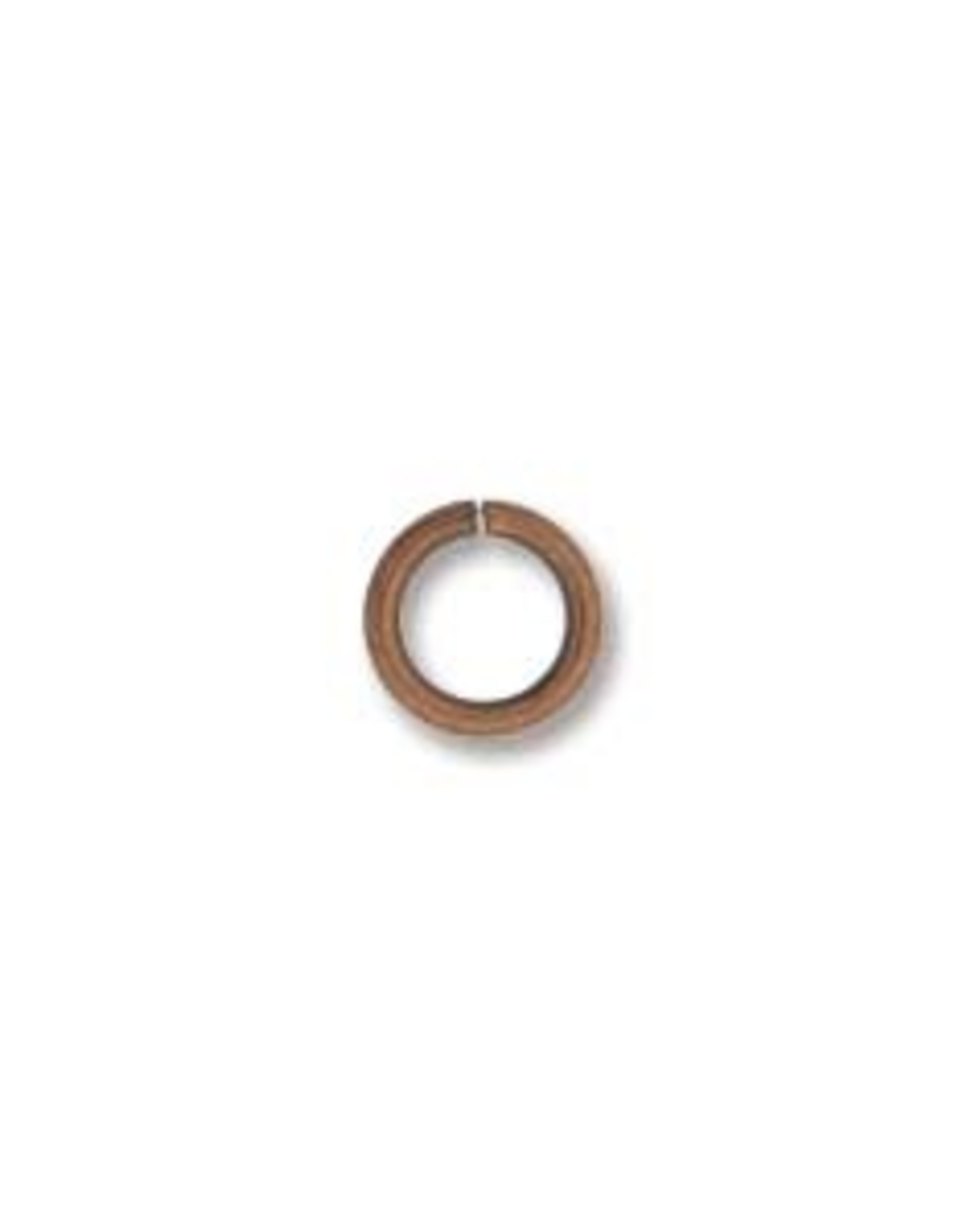 4mm Jumpring 21ga Ant Copper Plated Qty 25