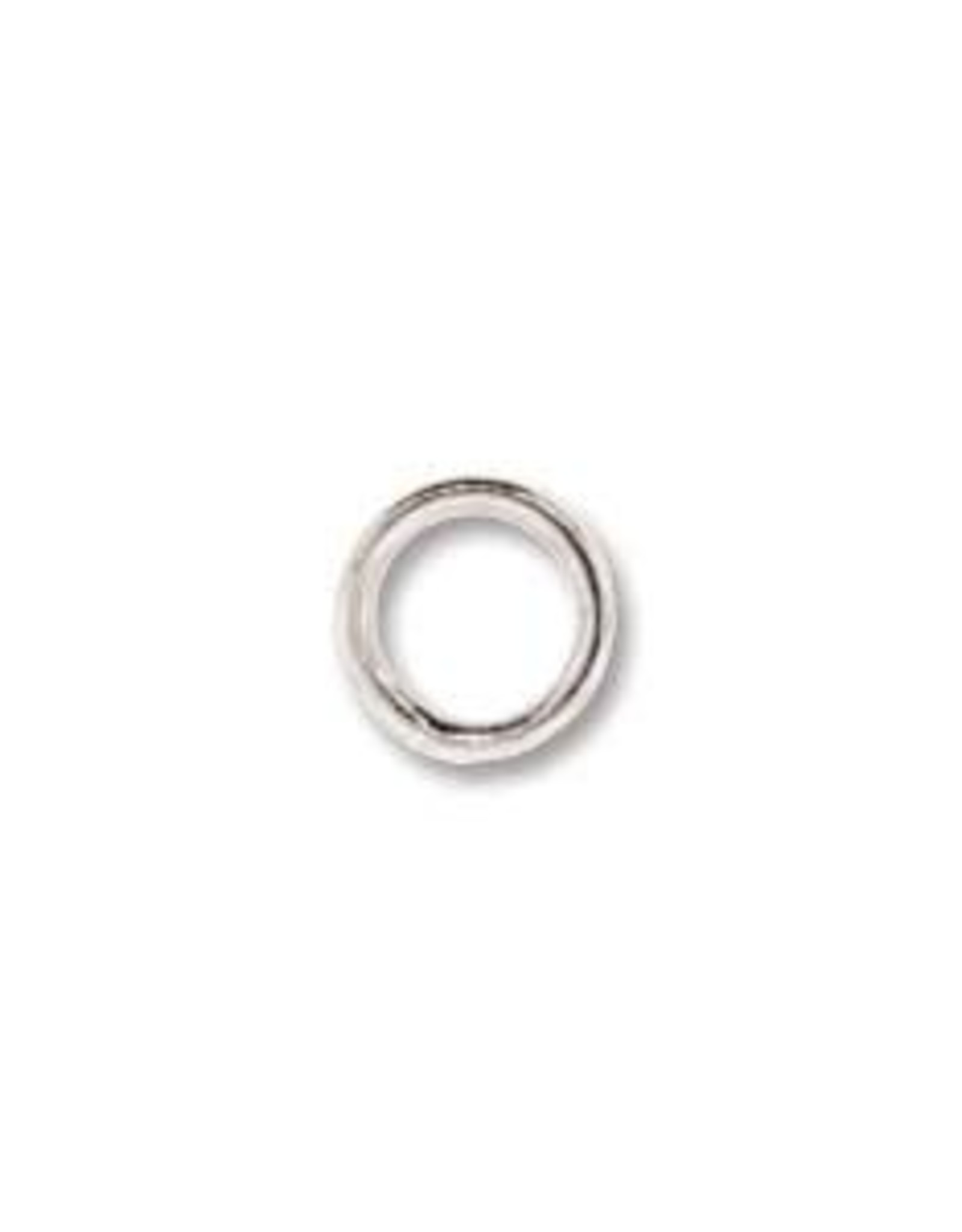 6mm Closed Rings, 19ga, Silver Plate Qty 12