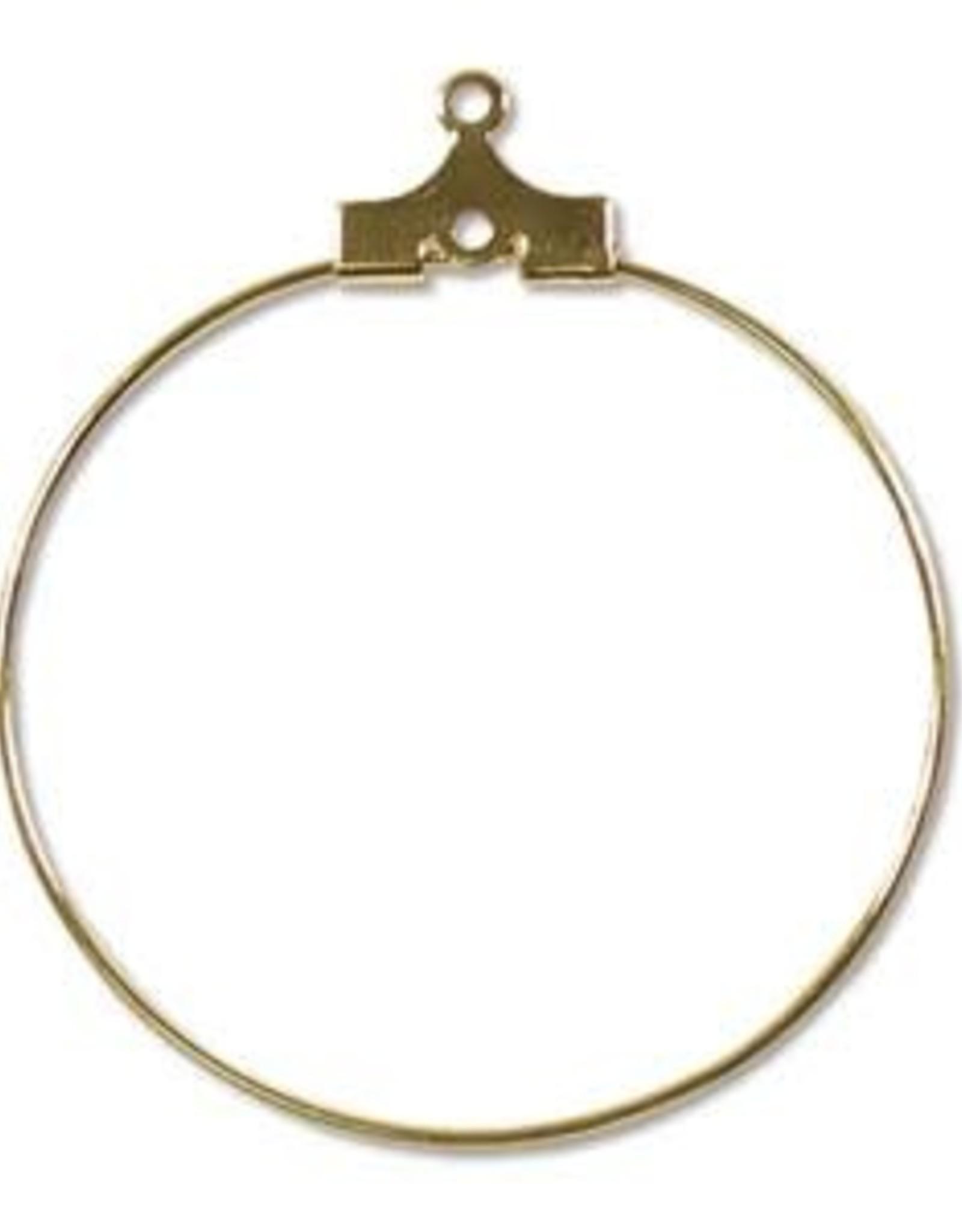 30mm Bead. Hoop Gold Plate Qty 12