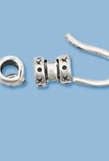 3mm Crimp Hook End Cap Sterling Silver Qty 2