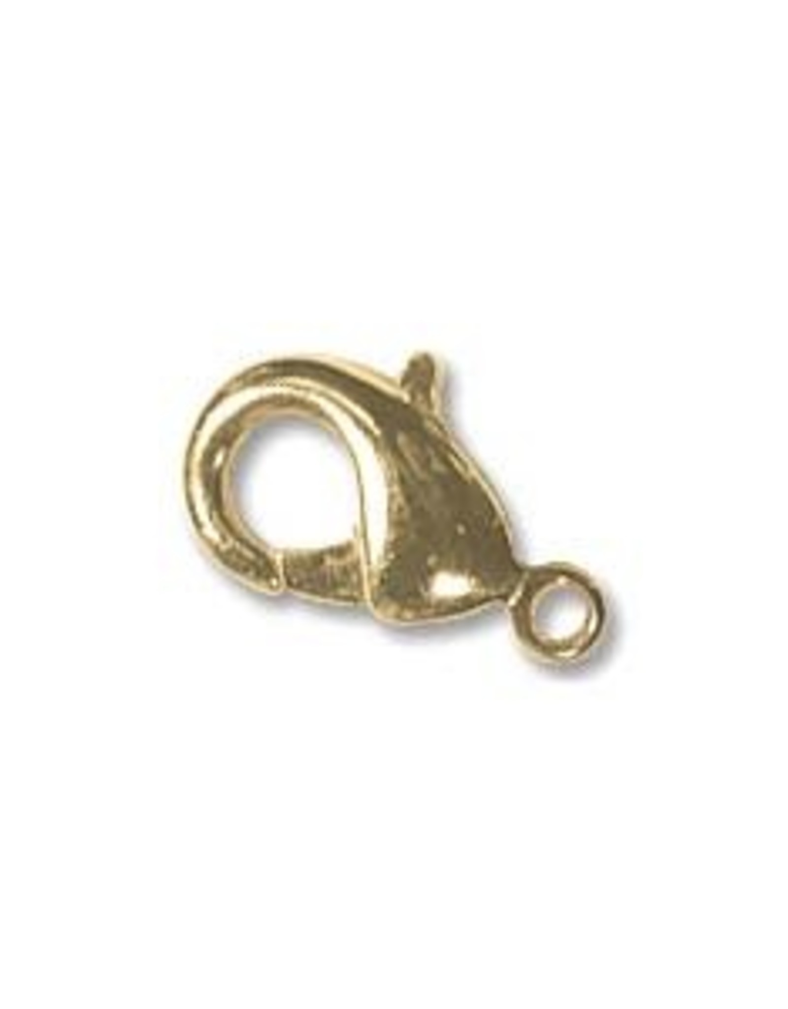 12x6.5mm Lobster Clasp Gold Plate, Qty 12
