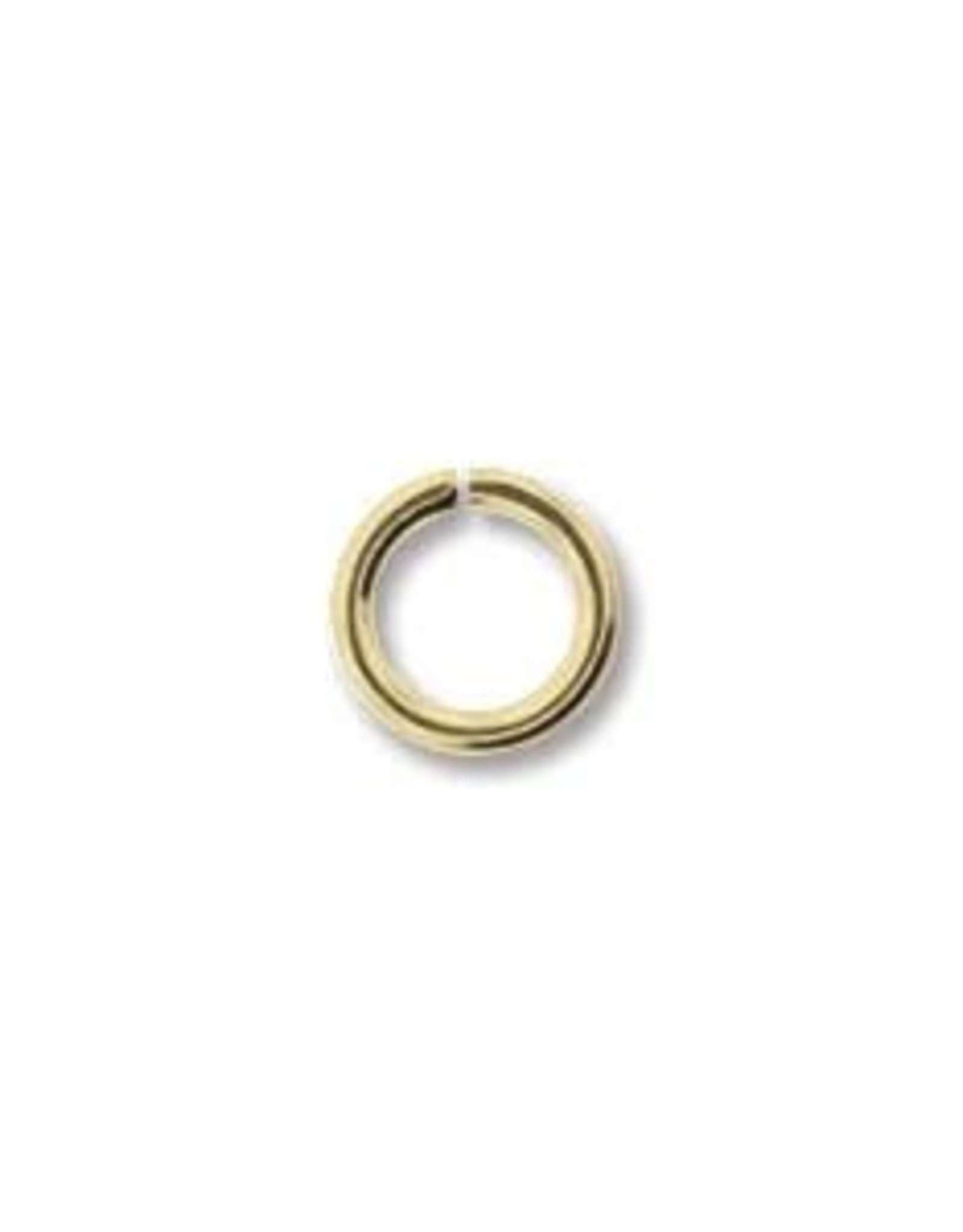 6mm Jump Ring 18 ga Gold Plate Qty 24