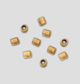 2x2 Crimps Tubes, 14k Gold Filled Qty 25