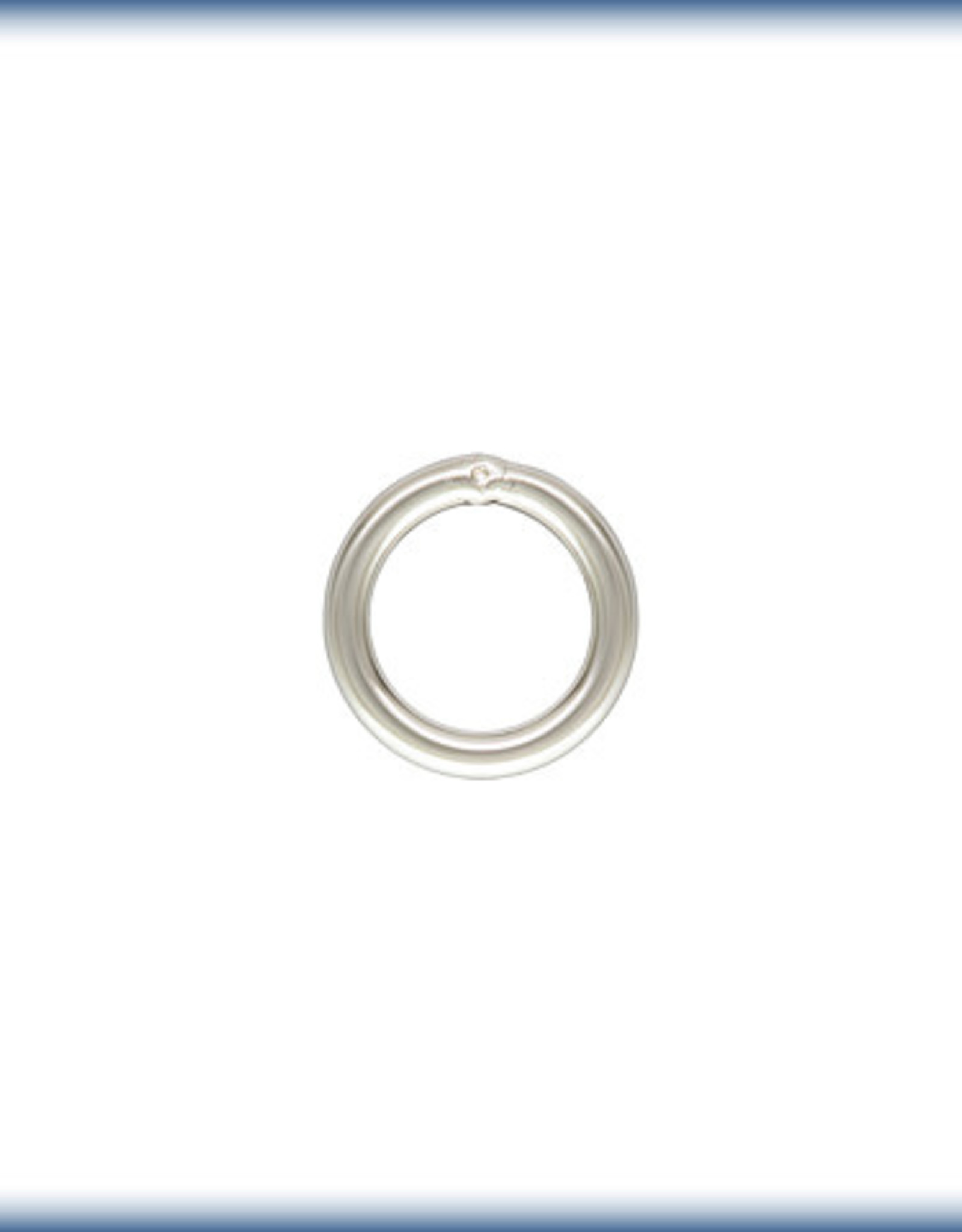 4mm Closed Ring, 21ga Sterling Silver Qty 10
