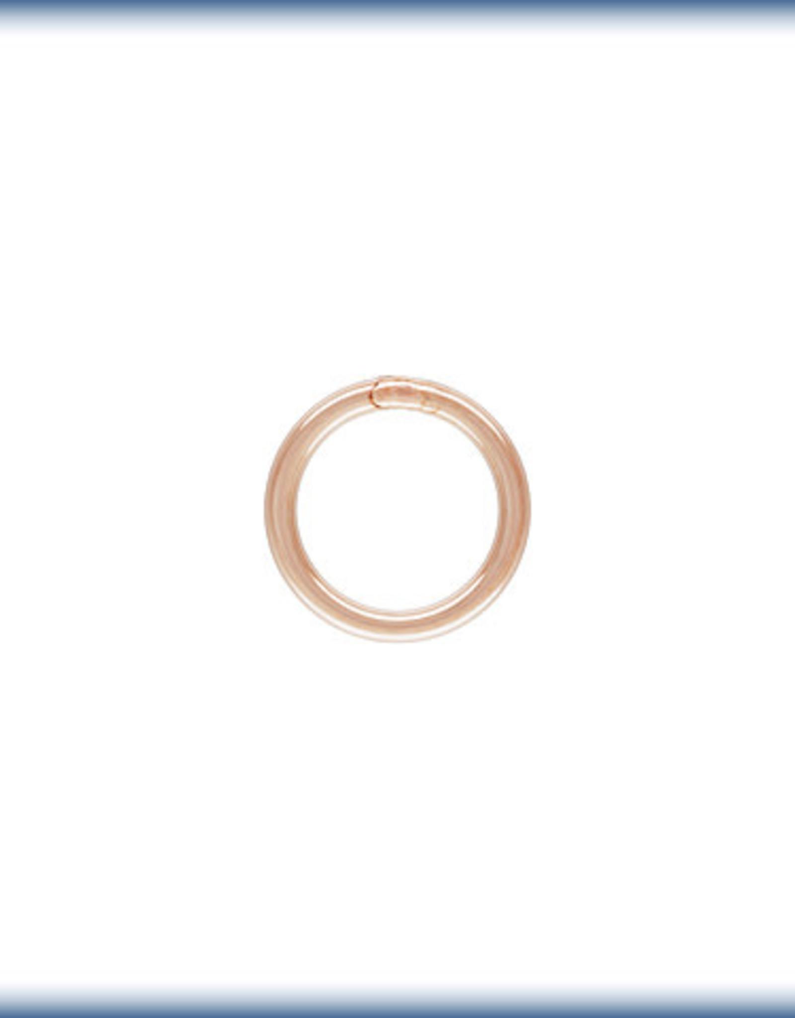 5mm Closed Ring 22ga, 14k Rose Gold Filled Qty 12