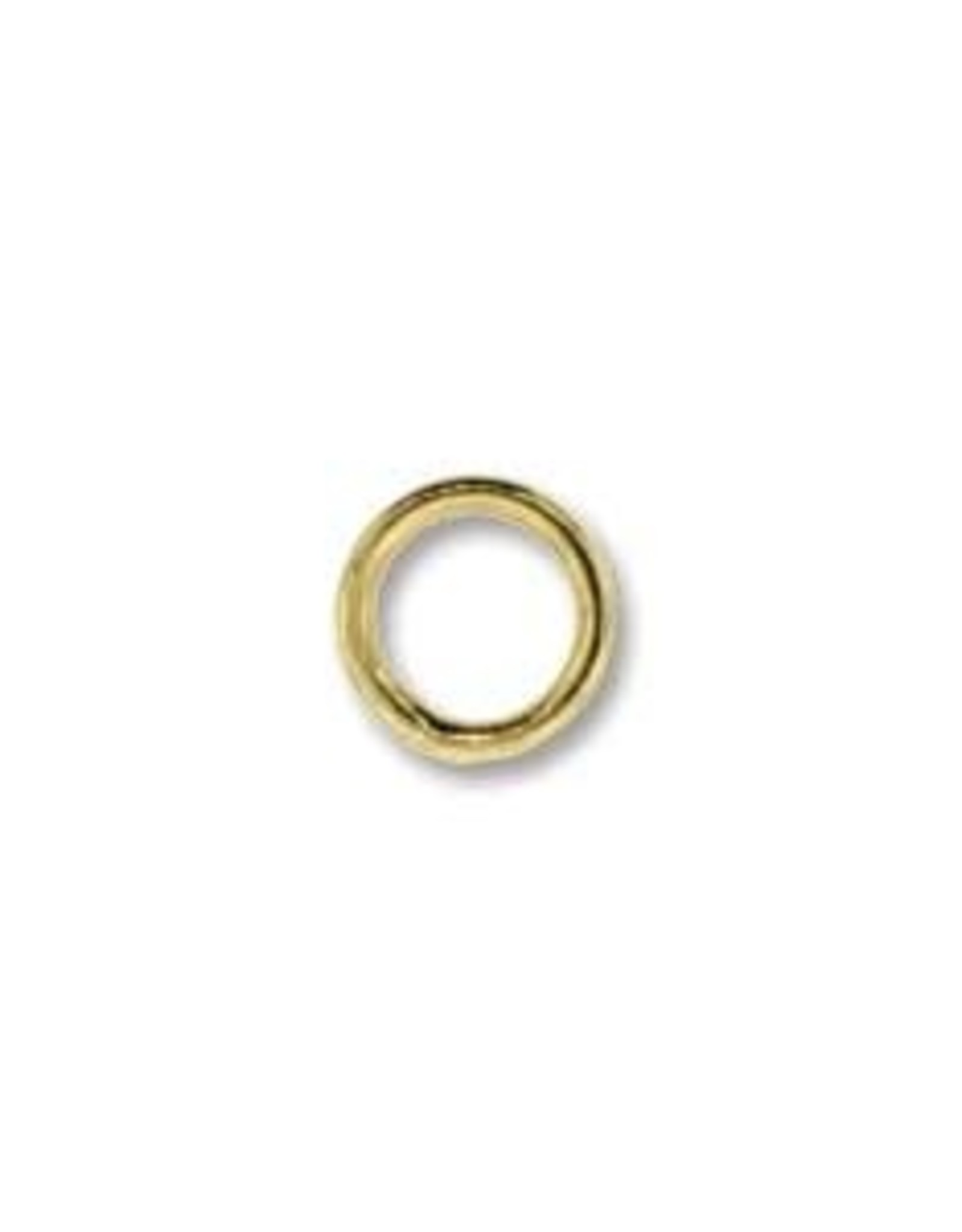 6mm Closed Ring 19ga Gold Plate Qty 144