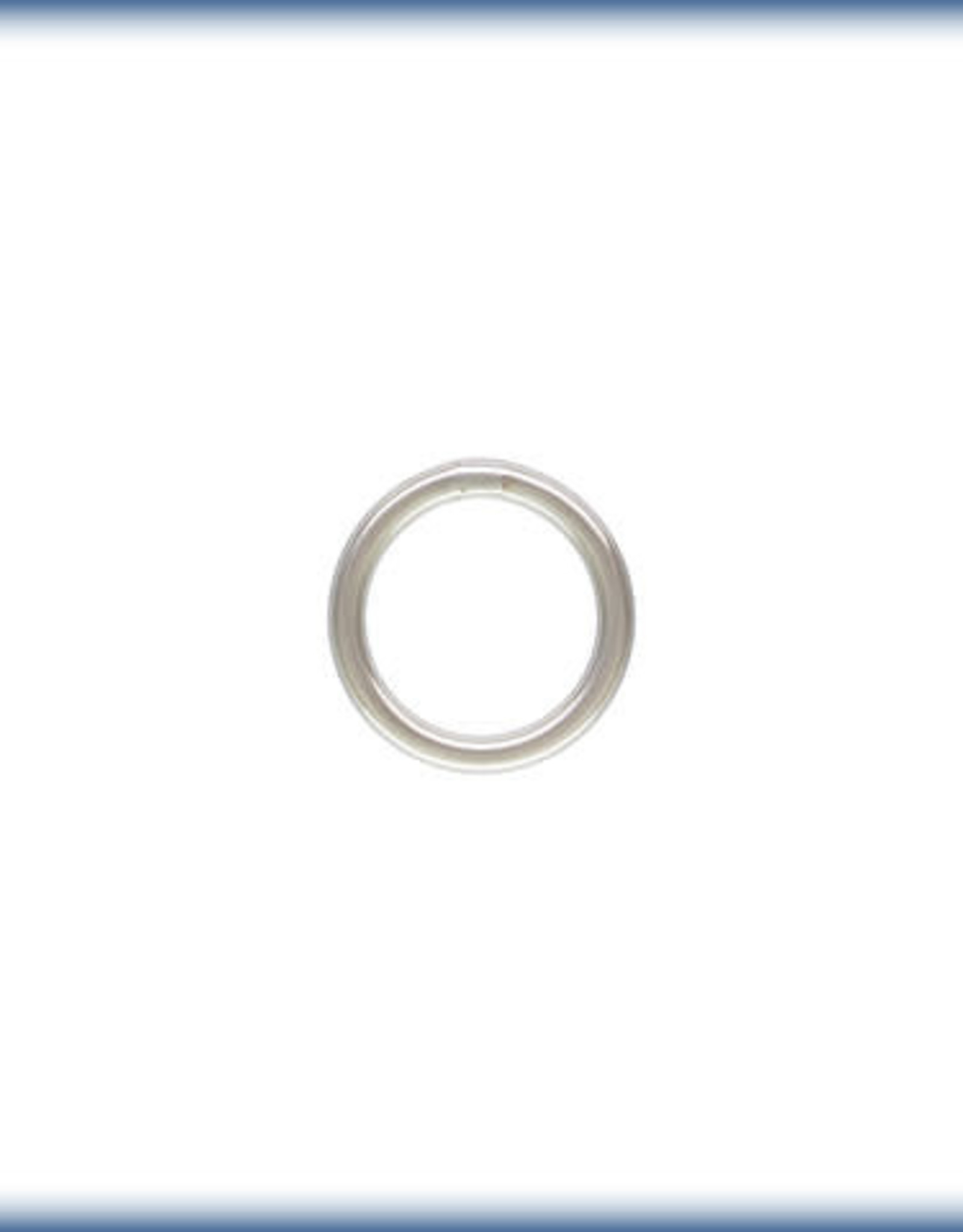 5mm Closed Ring 21ga Sterling Silver Qty 10