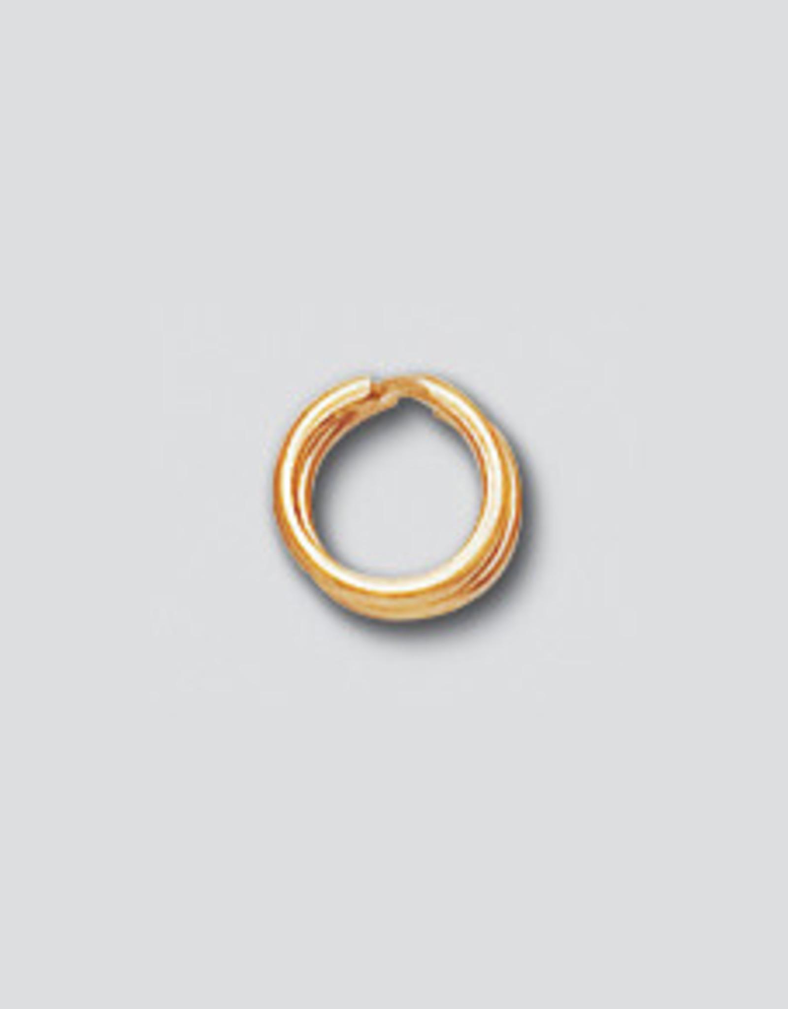 6mm Split Rings 14k Gold Filled Qty 6