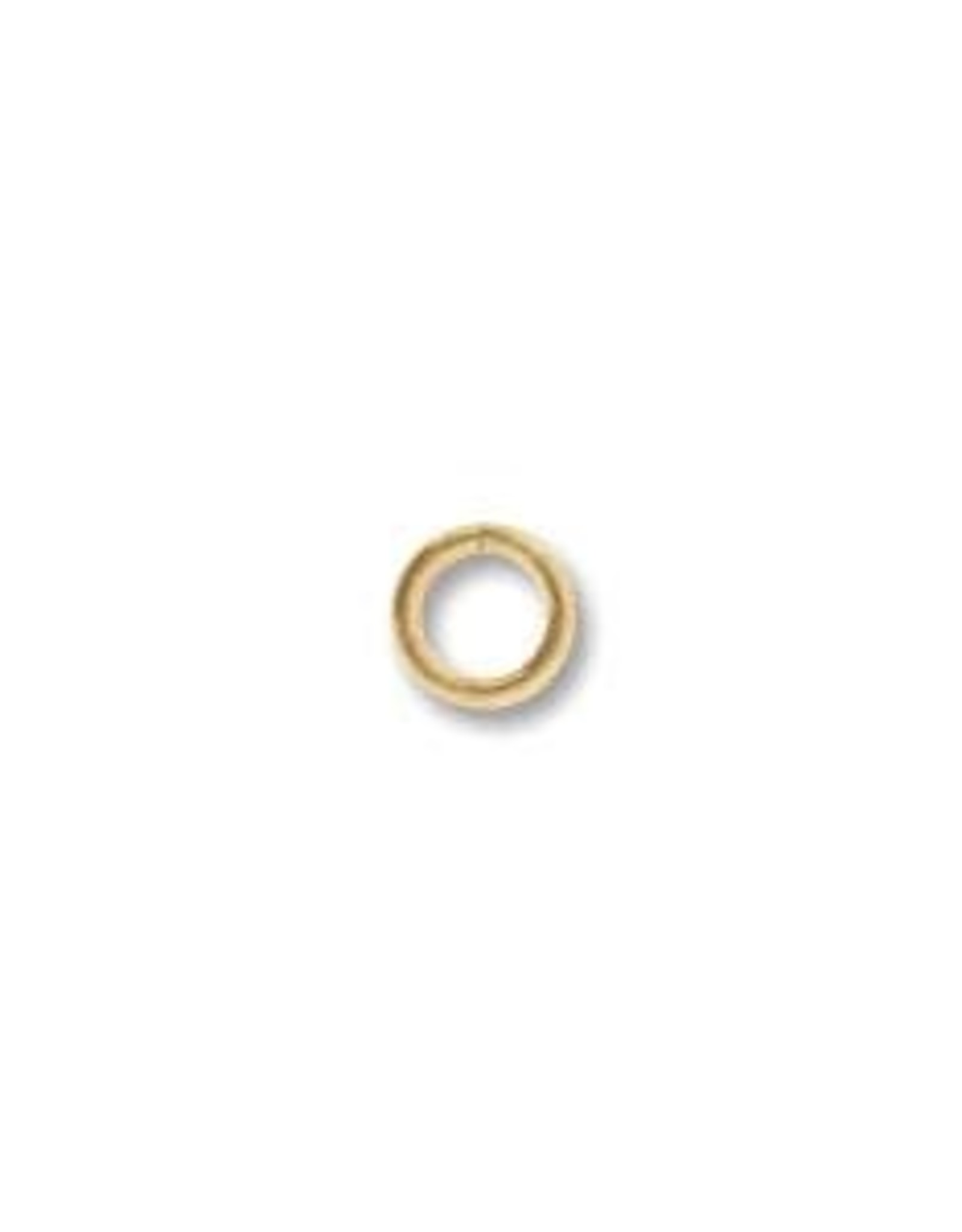 4mm Jump Ring 21ga Gold Plated Qty 144
