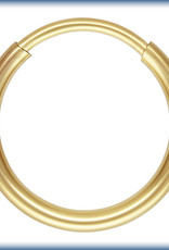 12mm Endless Hoop 14k  Gold Filled pair