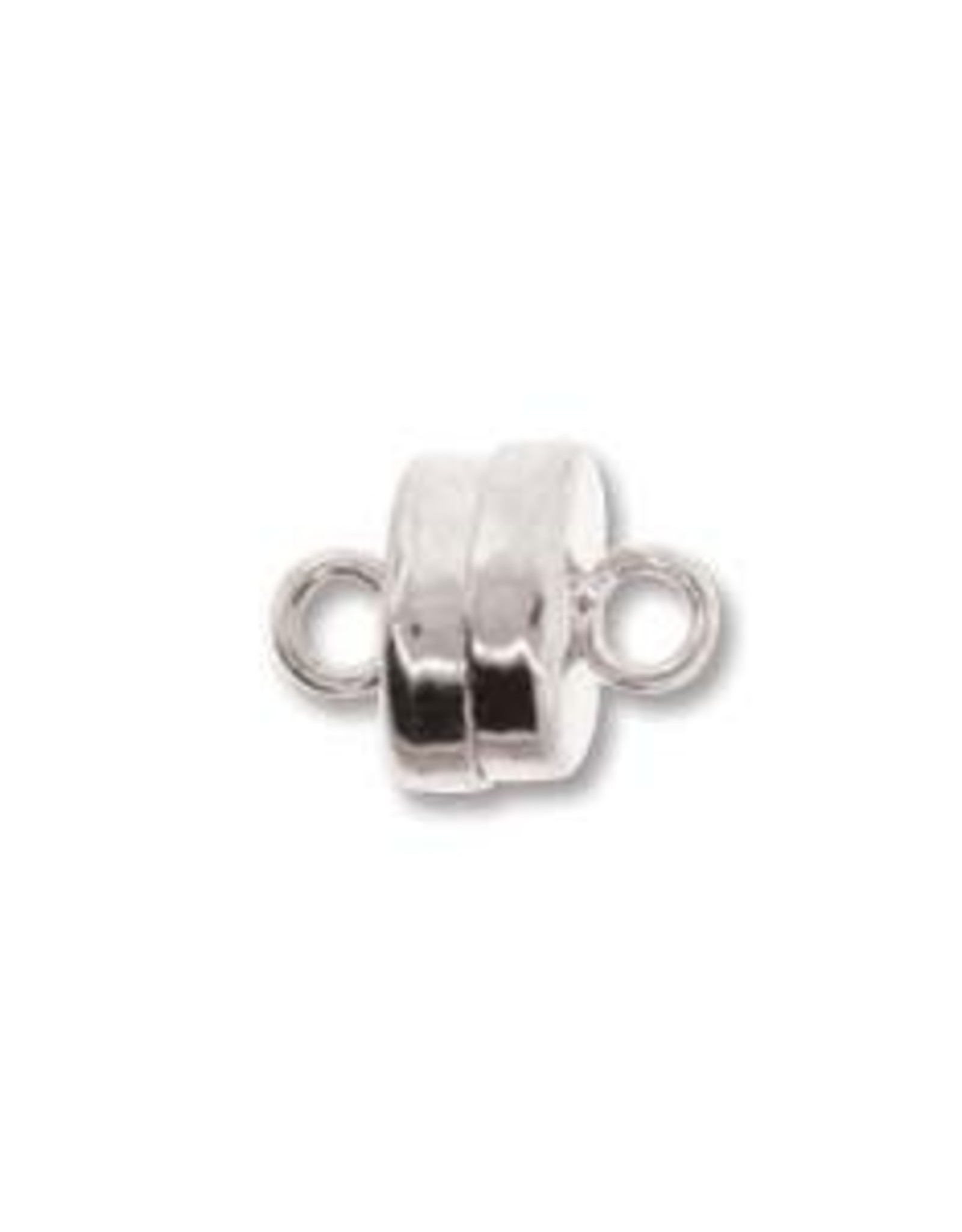 7mm Magnetic Clasp Silver Plate Qty 3