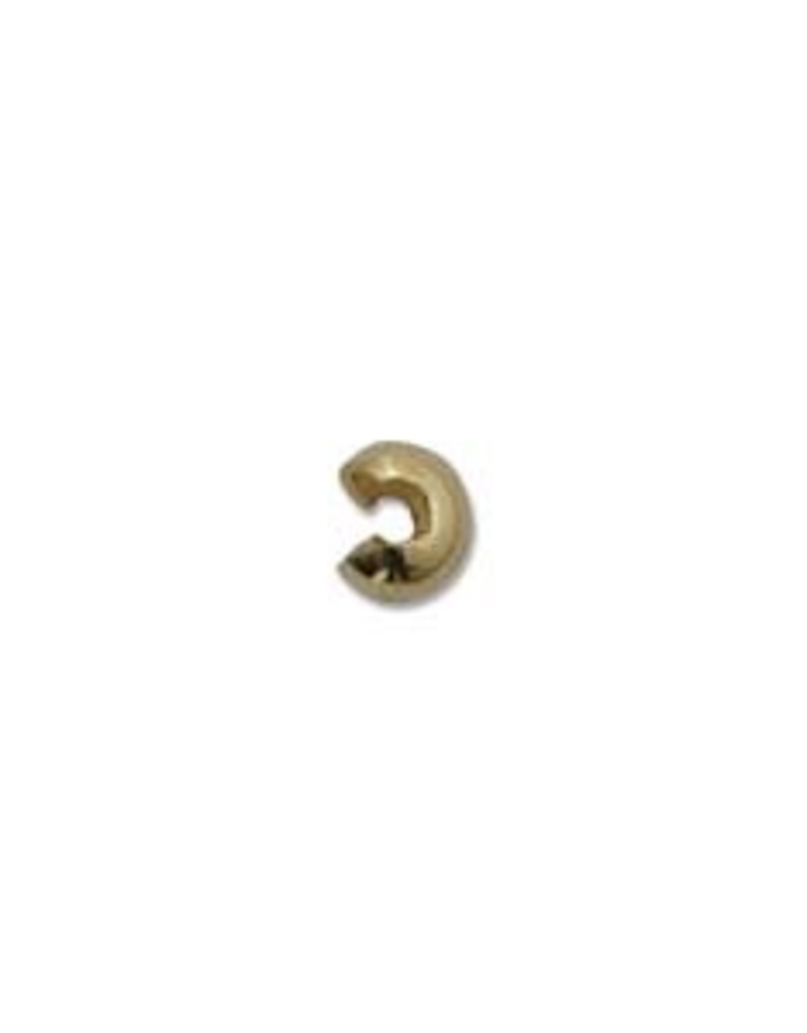 3mm Crimp Cover Gold Plate Qty 144