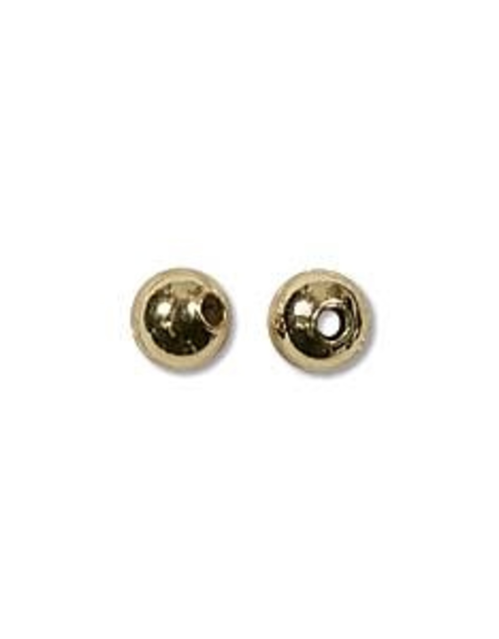 4mm Round Bead Gold Plated Qty 144