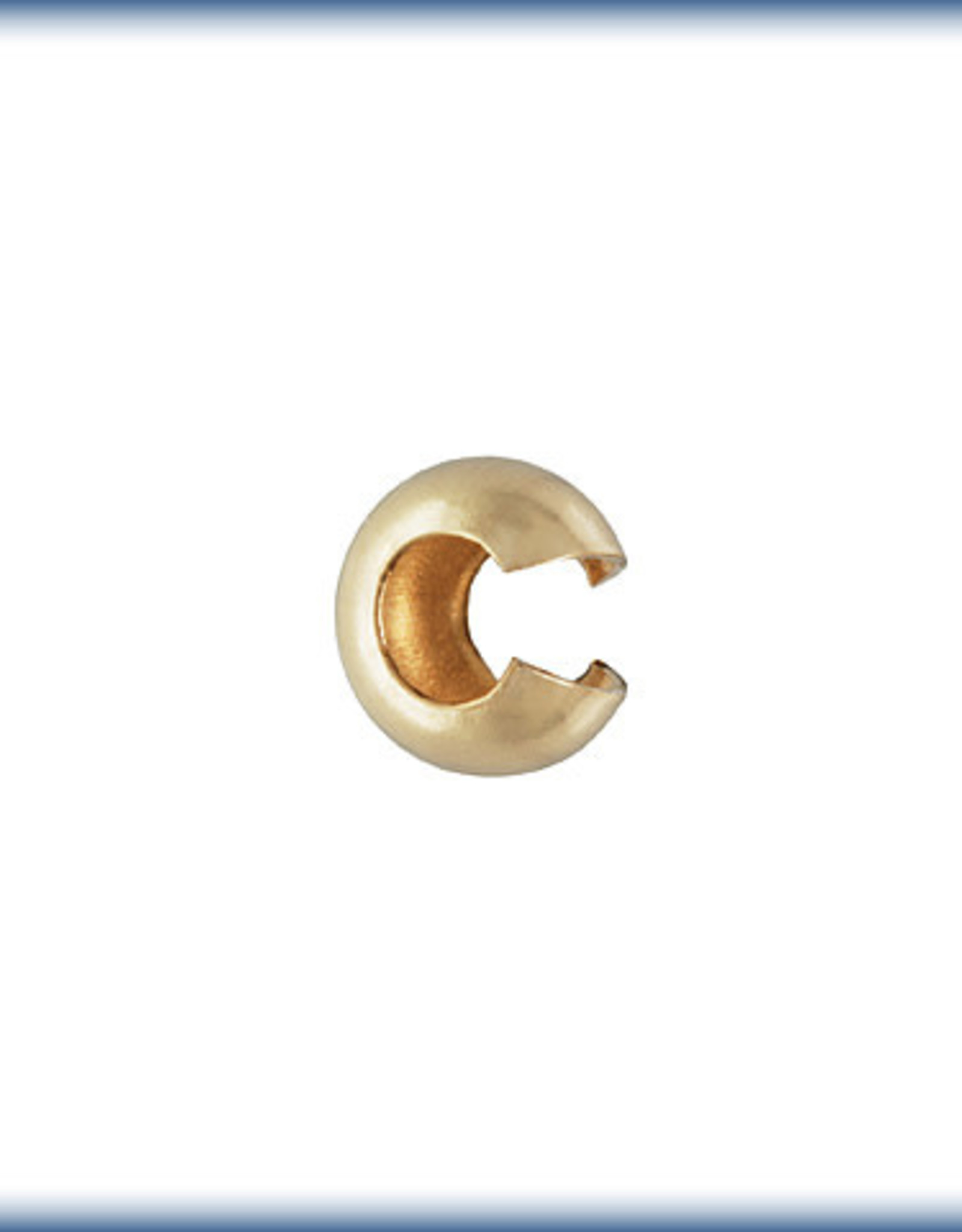3mm Crimp Cover Gold Plate Qty 24