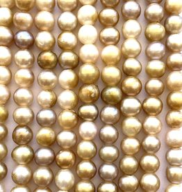 "6mm Pearls w/2mm ID Hole, Maize 15"" st approx."
