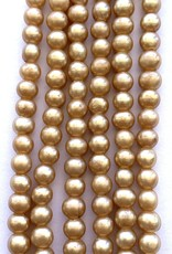 """6mm Pearls w/2mm ID Hole, Champagne 16"""" st approx."""