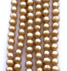 "6mm Pearls w/2mm ID Hole, Champagne 16"" st approx."