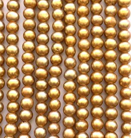 "6mm Pearls w/2mm ID Hole, Coppery Gold 16"" st approx."