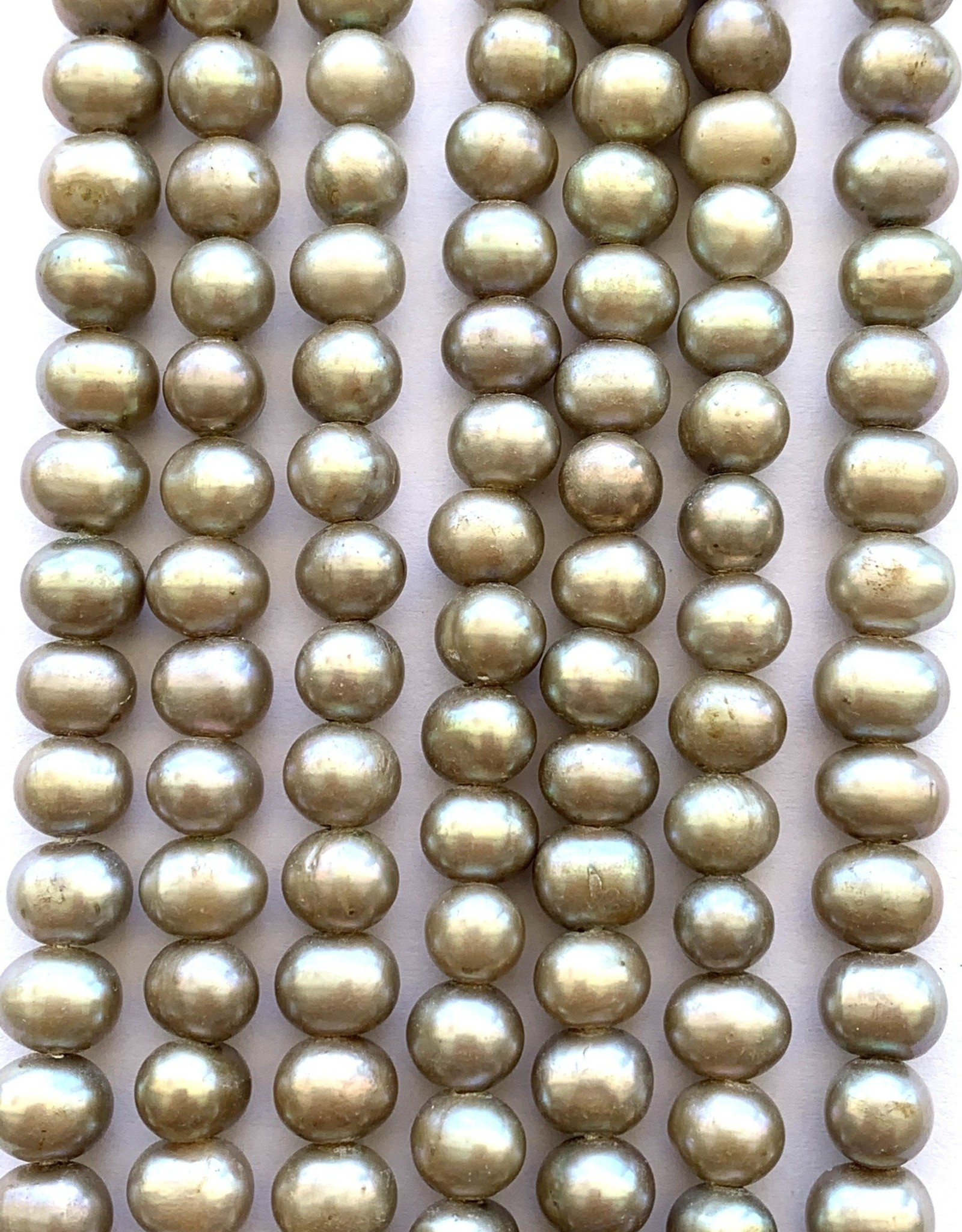 "7mm Pearls w/2mm ID Hole, Blush Silver 15.5"" st approx."