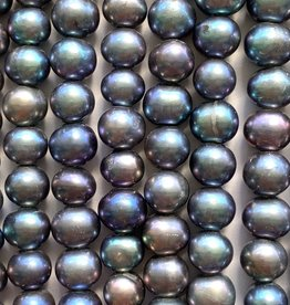 "8mm Peacock Pearls w/2mm ID holes 8"" St"