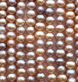 "6mm Pearls w/2mm ID Hole, Mauve Pink 15""st approx."