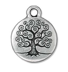 Tierra Cast Tree of Life Charm Silver
