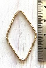 38x24mm Diamond Hoop 14K G/Filled ea